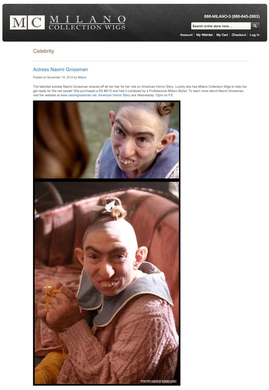Actress Naomi Grossman / Milano Collection Blog | Milano Collect