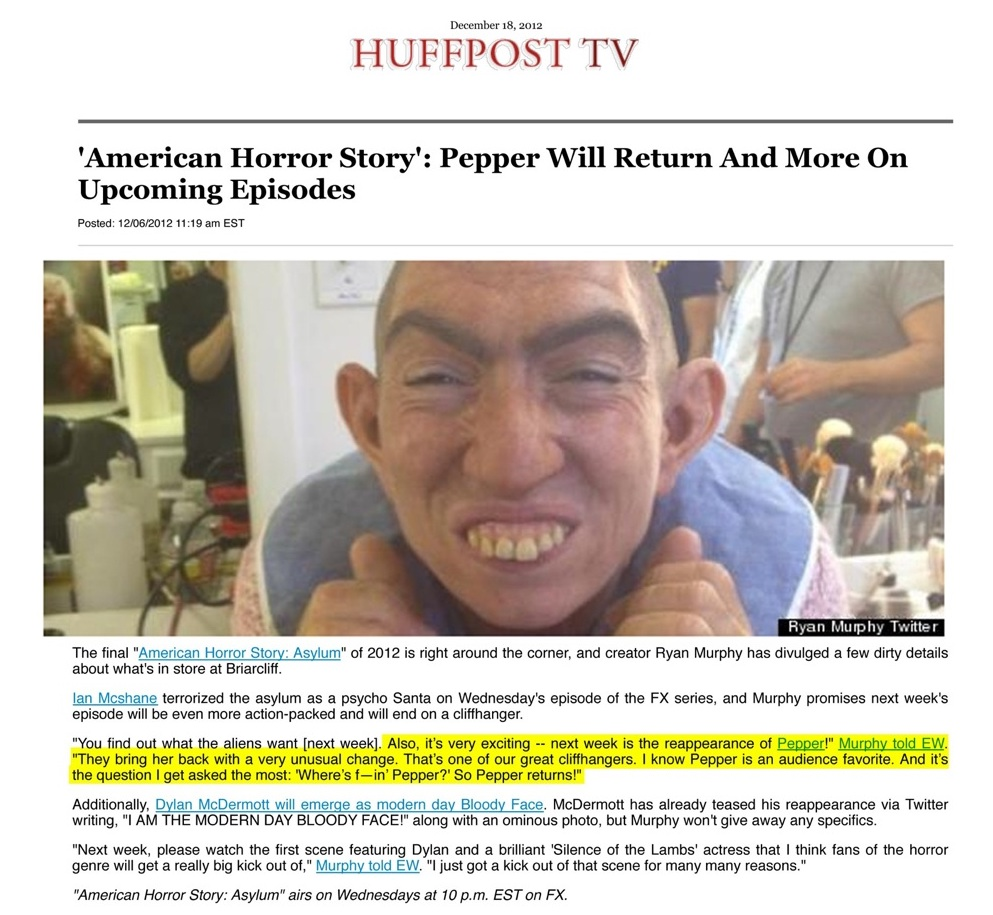 American horror story pepper audition
